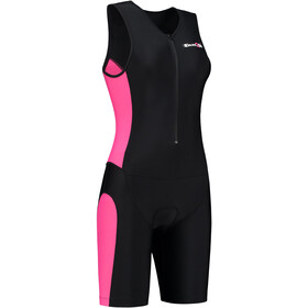 Dare2Tri Frontzip Trisuit Mujer, black-pink